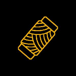 Bobine de fil jaune - symbole de Nathalie