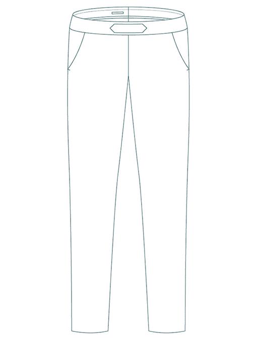 Pantalon cigarette affiné - Modèle L'élégant