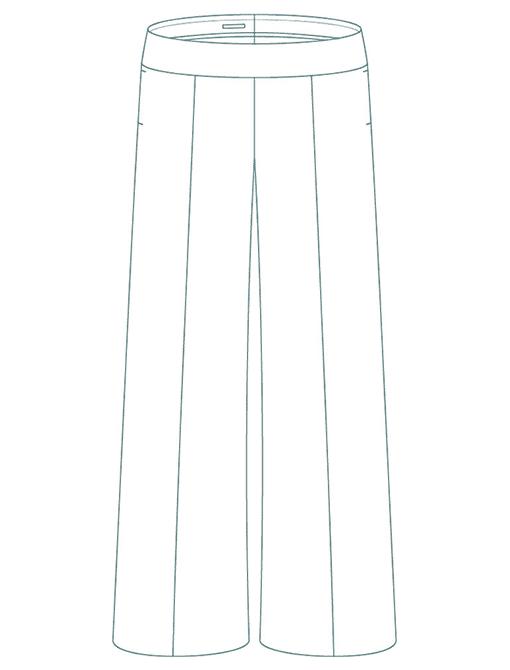 Un pantalon large avec nervure - Le Sublime