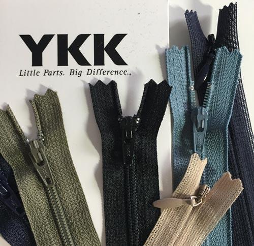 Les fermetures sont solides - Marque YKK