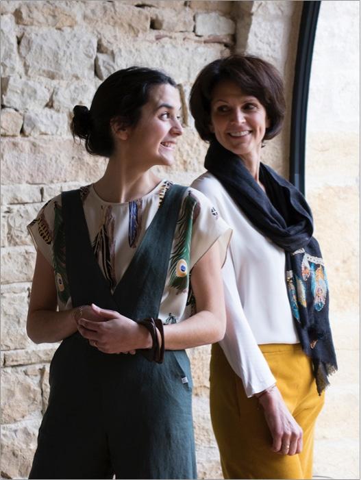 Duo fondateur C.Bergamia - Mère:Fille - Lauréline & Nathalie