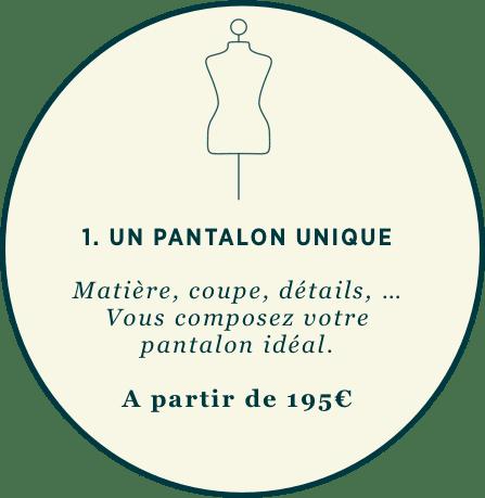 1. Créez votre pantalon sur-mesure