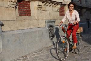 Portrait de femme - Vélo Nathalie - C.Bergamia