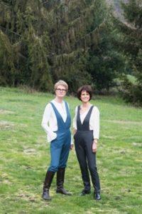 Pantalon à bretelles - Salopette en coton - Duo