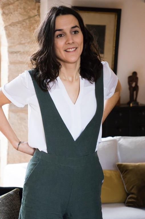 Pantalon élégant femme - Salopette - Bretelles