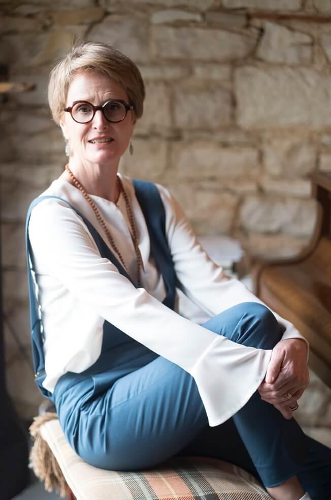Pantalon féminin écoresponsable - C.Bergamia - Salopette bleue