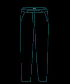 L'Authentique - Croquis Pantalon droit