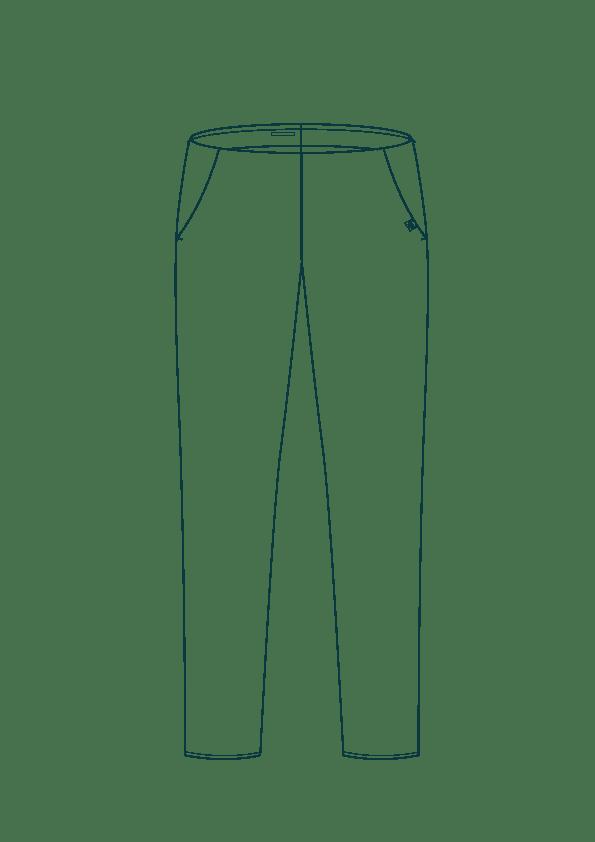 Le Charmant - Croquis Pantalon cigarette