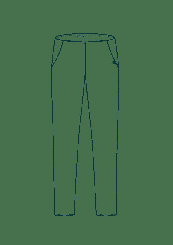 Croquis du pantalon cigarette en coton - Le Charmant