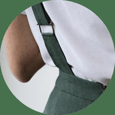Bretelles Réglables - Salopette large en lin