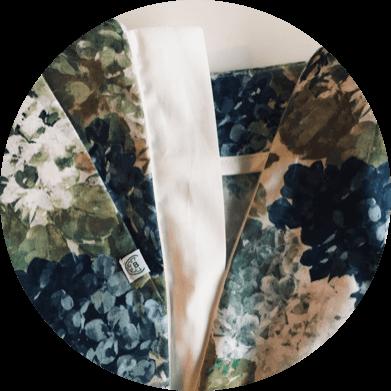 Fermeture invisible - Pantalon cigarette fleuri - Charmant