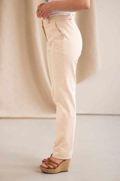 Authentique - Pantalon droit en coton crème 1