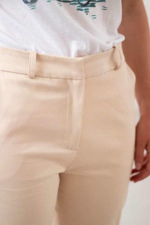 Authentique - Pantalon droit en coton crème 3