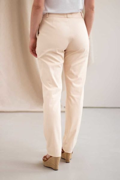 Authentique - Pantalon droit en coton crème 4