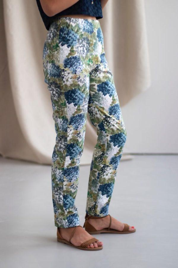 Charmant - Pantalon cigarette en coton fleuri 2