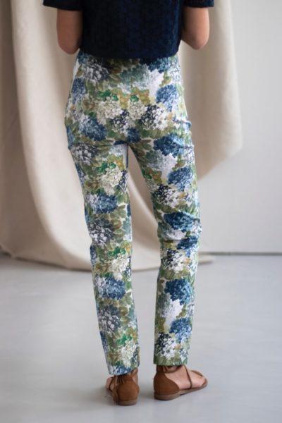 Charmant - Pantalon cigarette en coton fleuri 3