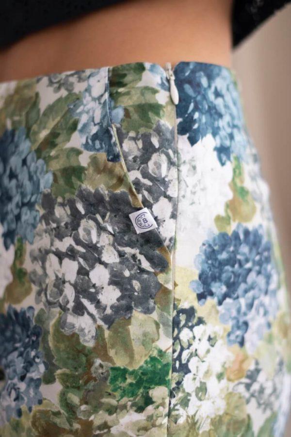 Charmant - Pantalon cigarette en coton fleuri 4