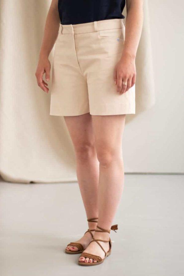 Irresistible - Short en Coton beige 1