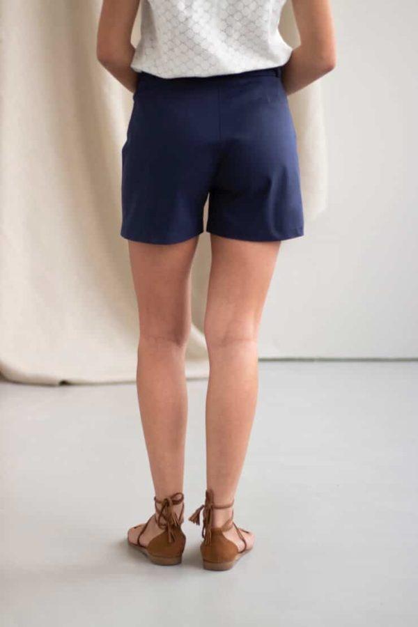 Irresistible - Short en coton marine 1