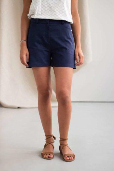 Irresistible - Short en coton marine 2