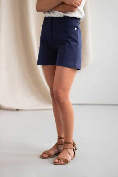 Irresistible - Short en coton marine 4