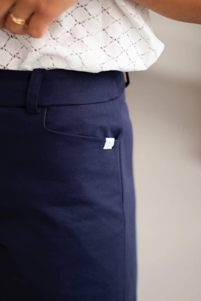 Irresistible - Short en coton marine 5