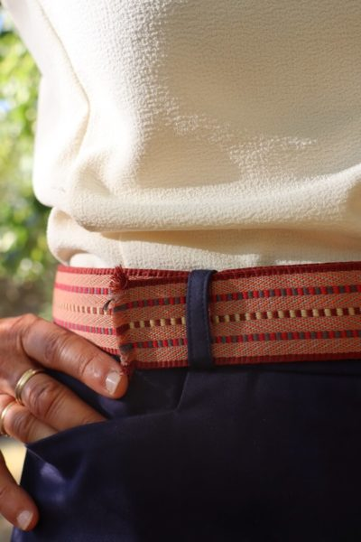 Ceinture orangé Made in France