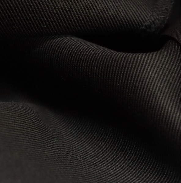 Gabardine en coton biologique - Couleur Noire