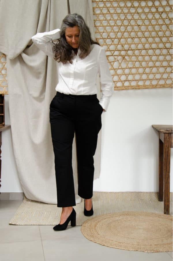 Pantalon femme Authentique Noir en coton biologique - Les Basiques