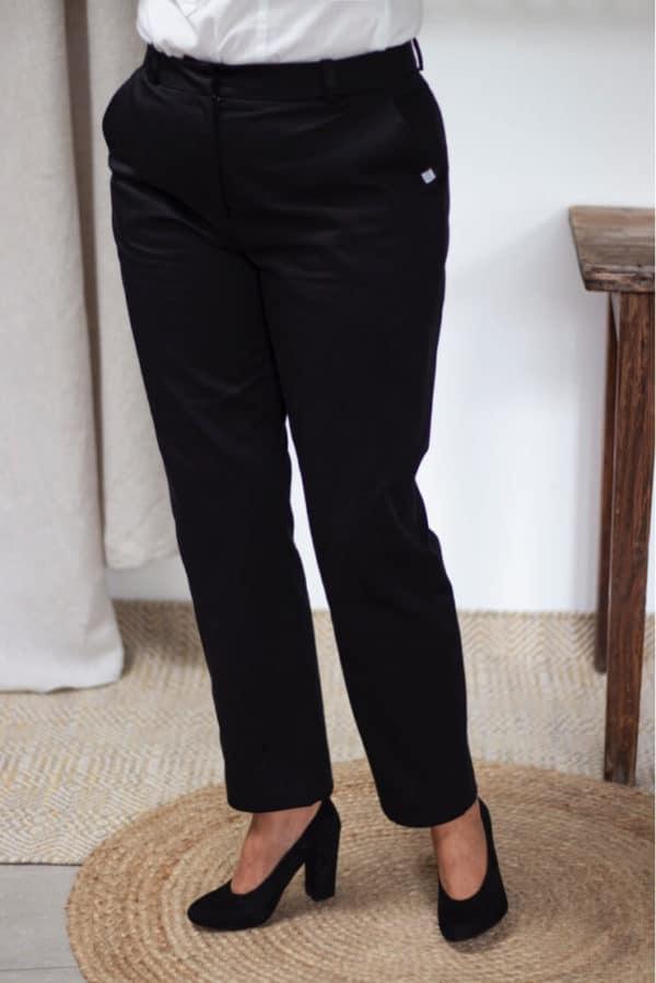 Pantalon femme en coton bio noir - Les Basiques