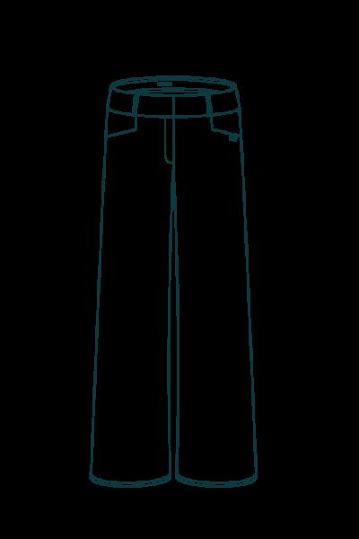 Pantalon large femme en velours - Croquis L'Incomparable
