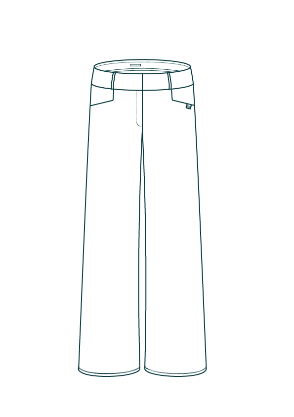 Pantalon large femme en velours - Croquis L'Incomparable