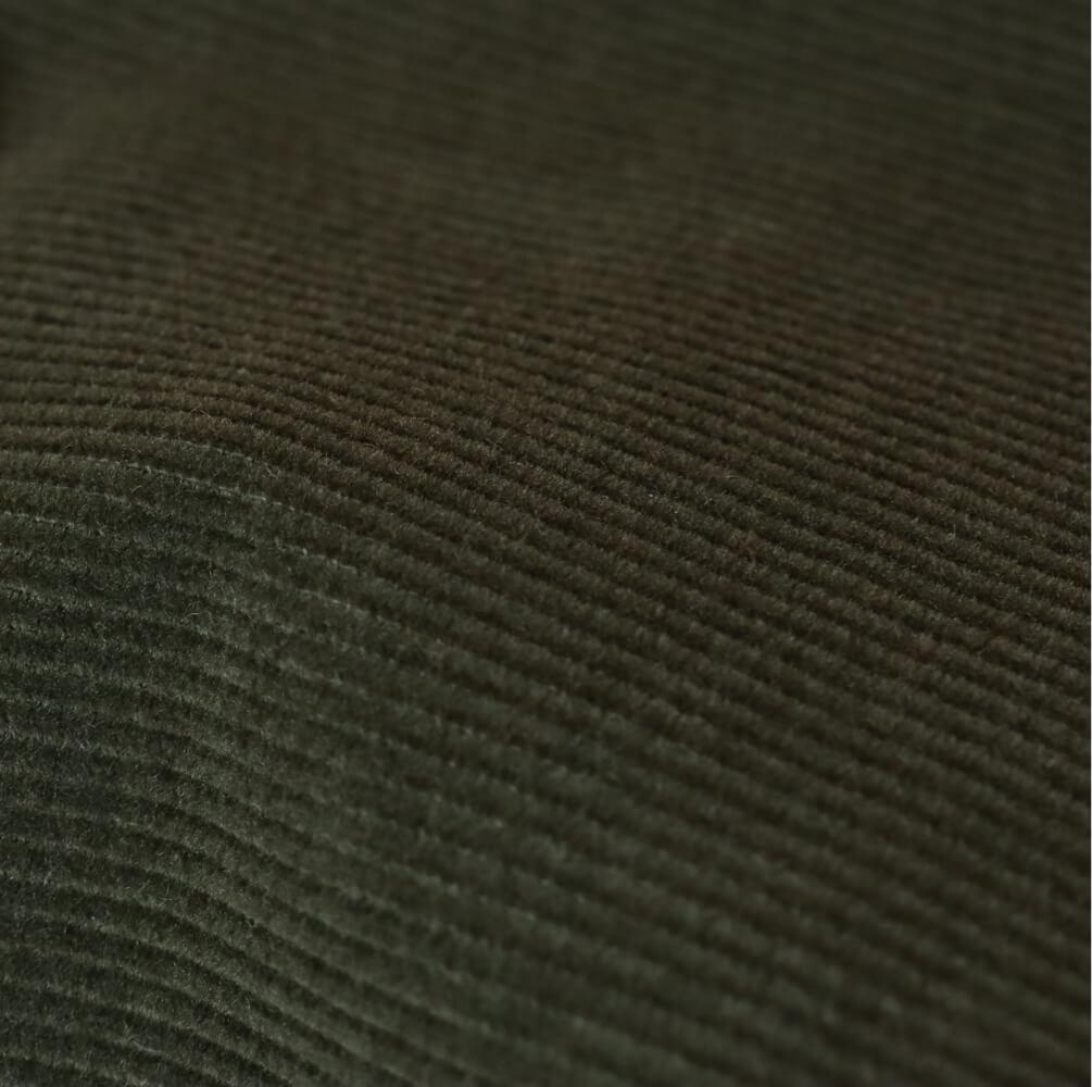 Velours côtelé kaki en coton biologique - Tissus naturels & responsables