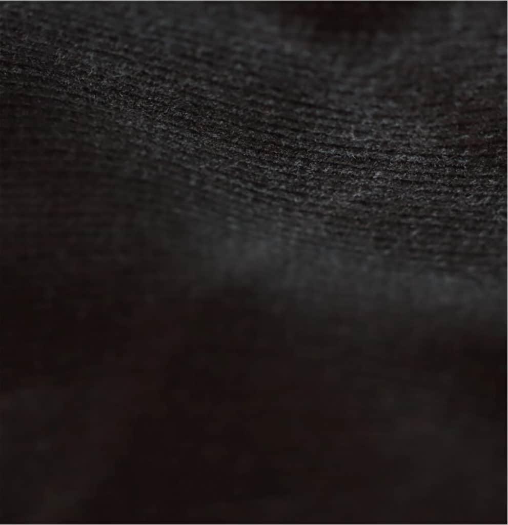 Velours côtelé noir en coton biologique - Tissus naturels & responsables