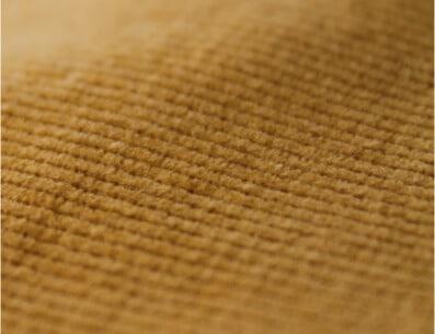 Velours de coton biologique certifié GOTS - Zoom sur la couleur jaune - C.BERGAMIA - Choisir le tissu de son pantalon