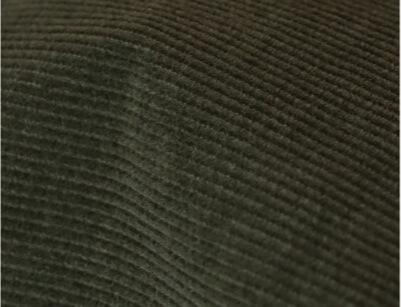Velours de coton biologique certifié GOTS - Zoom sur la couleur vert kaki - C.BERGAMIA - Choisir le tissu de son pantalon