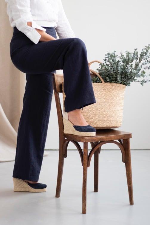 Le pantalon femme d'été en action - Du lin au coton - Ete au naturel14
