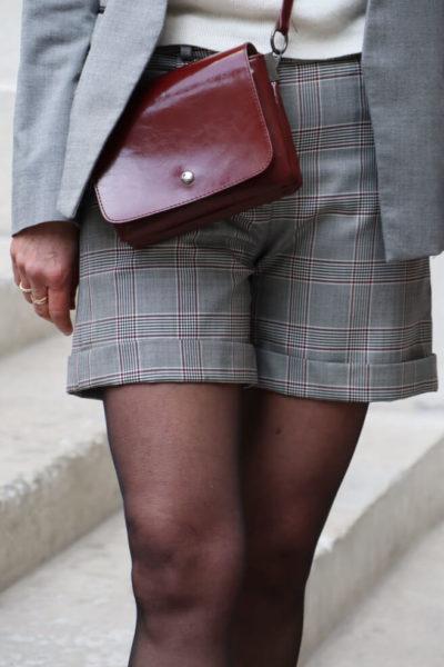 Short femme chic en laine à carreaux fabriqué en France - Short à personnaliser C.Bergamia 2
