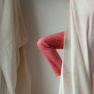 Pantalon du moment - Pantalon femme en lin rose made in France 1