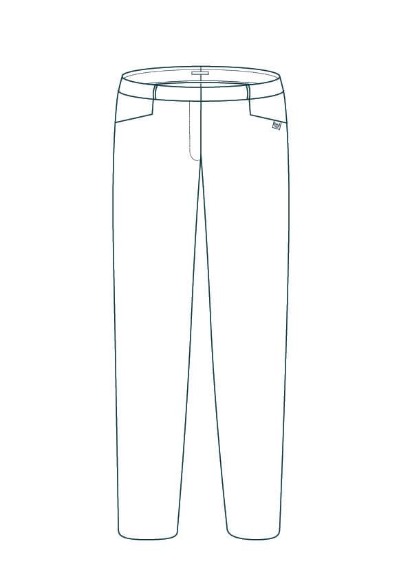Pantalon femme droit made in france - Modèle Authentique avec des poches cavalières - C.Bergamia Artboard 1-100