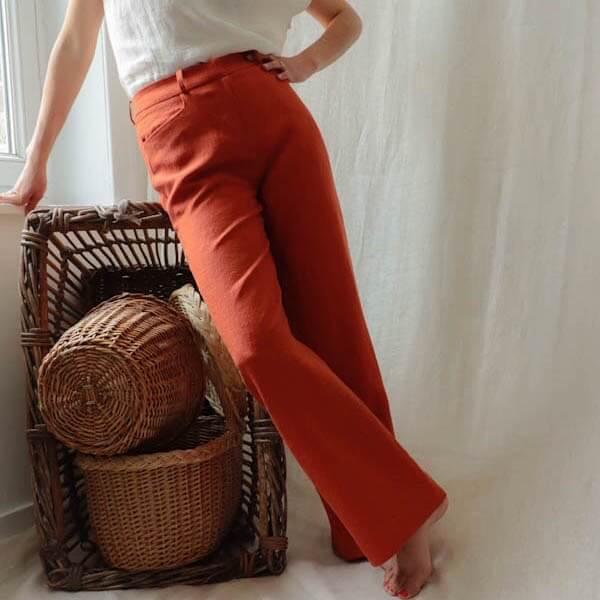 Zoom sur le pantalon du moment - Pantalon large en lin made in France - 1 (1)