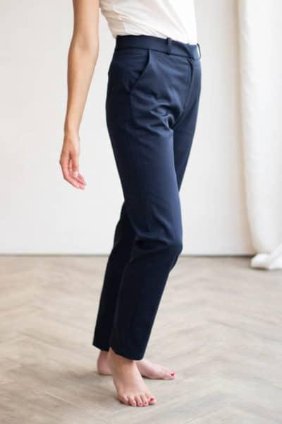 Pantalon droit en coton bio marine - Pantalon made in France - C.Bergamia 2